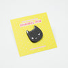 Mischievous Black Cat Enamel Pin