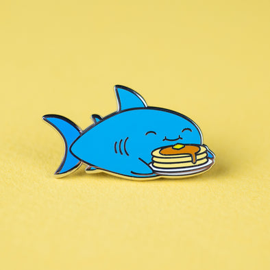 Shark Friends! – Pancake Shark Enamel Pin