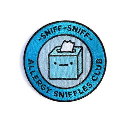 Allergy Sniffles Club Iron on patch