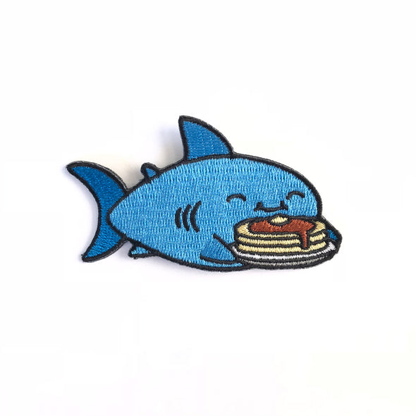 Pancake Shark Iron on patch