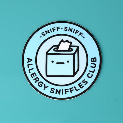 Allergy Sniffles Club Sticker
