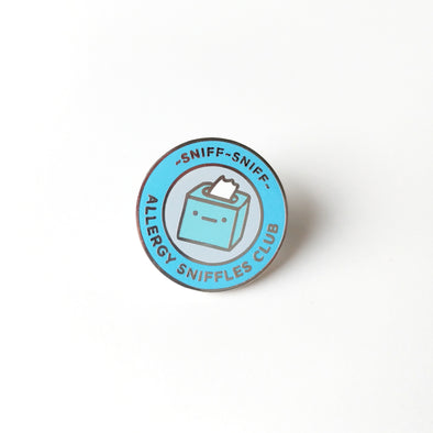 Allergy Sniffles Club Enamel Pin