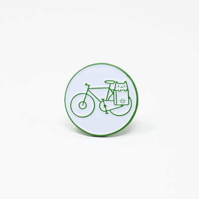 Bike Cat Enamel Pin