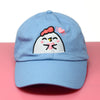 Grumpy Chicken Heart Hat - Baby Blue