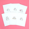 Bun Bun Bunny Greeting Card - Set of 6