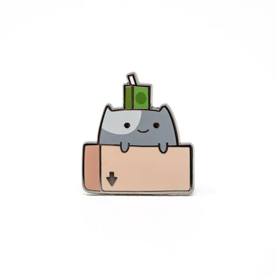 Box Cat - Ohayo-Neko Series 2 - Enamel Pin