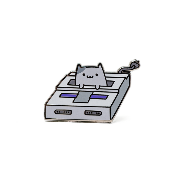 Game Cat Enamel Pin