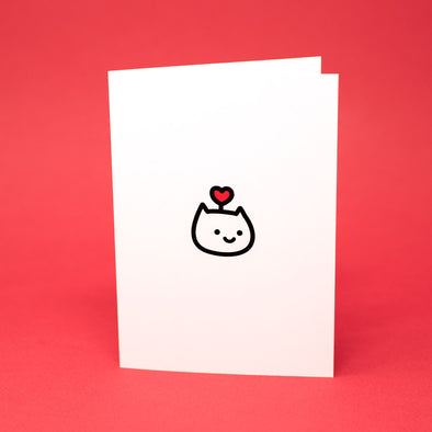 Heart Cat Greeting Card