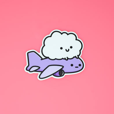 Cloud Plane Sticker