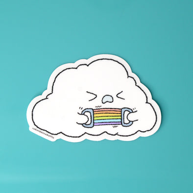 Cloudy - Working Out Sticker