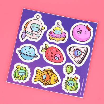 Commander Kitty Sticker Sheet