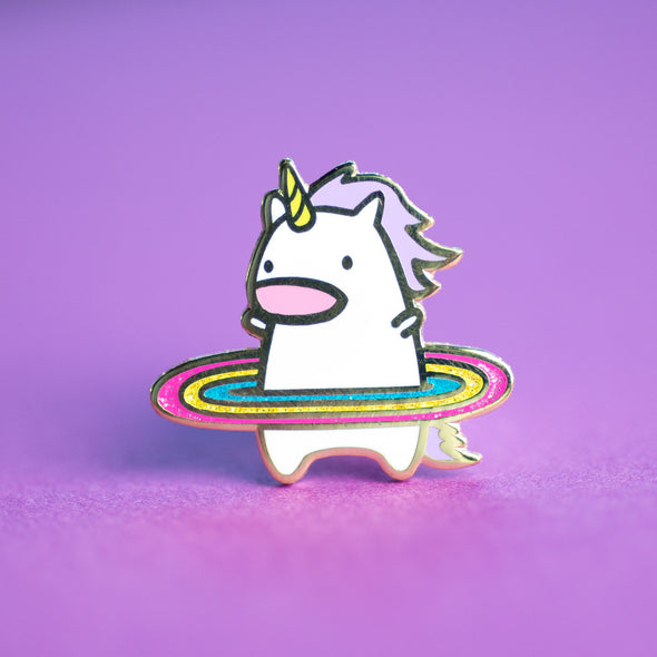 Work it, Hula Unicorn Hard Enamel Pin (With Glitter!)