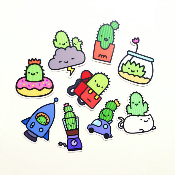 Happy Cactus Home Sticker Pack