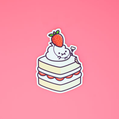 Lil' Whip Strawberry Cake Sticker