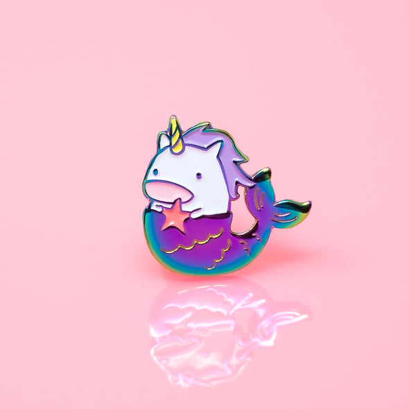 Work it, Mermaid Unicorn Enamel Pin