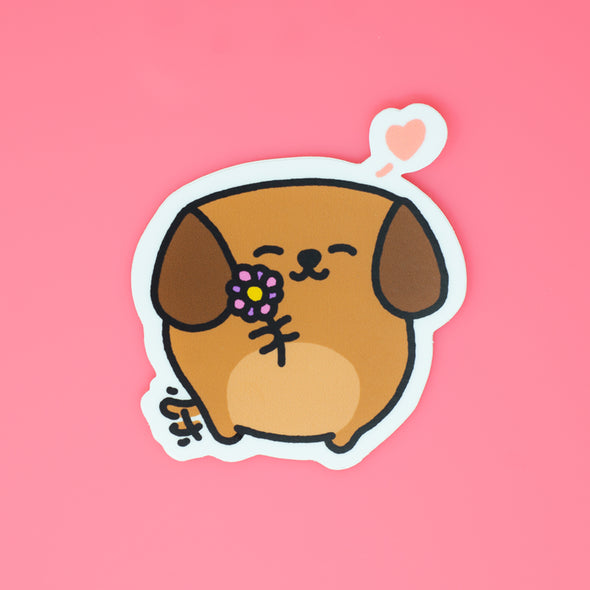 Mocha Doggo Sticker - Love
