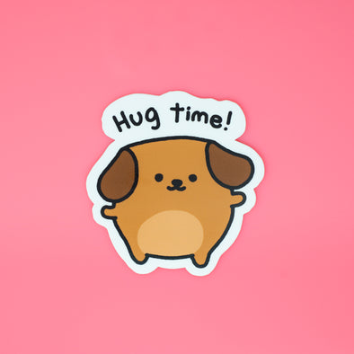 Mocha Doggo Sticker - Hug Time!