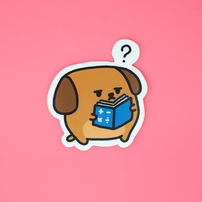Mocha Doggo Sticker - Math is hard