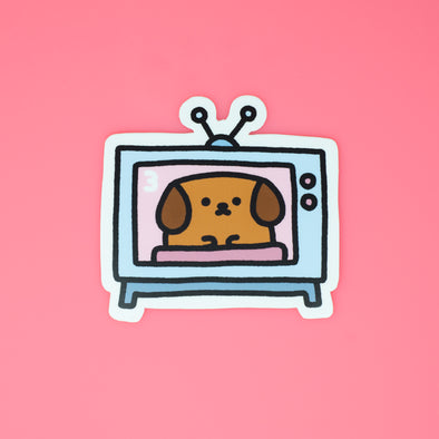 Mocha Doggo Sticker - TV