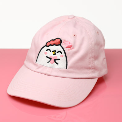 Grumpy Chicken Heart Hat - Pink