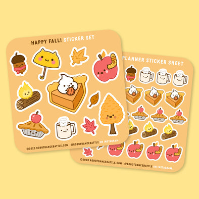 Happy Fall Sticker Sheets