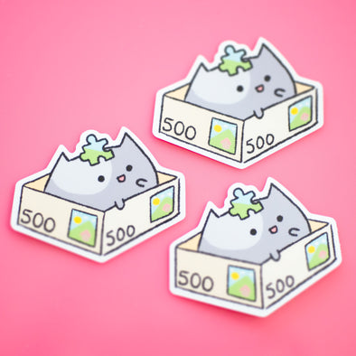 Puzzle Cat Sticker
