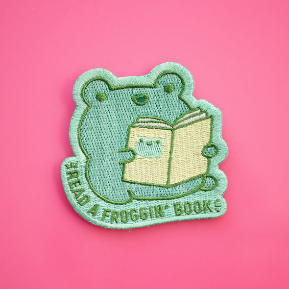 Read A Froggin' Book Iron on patch