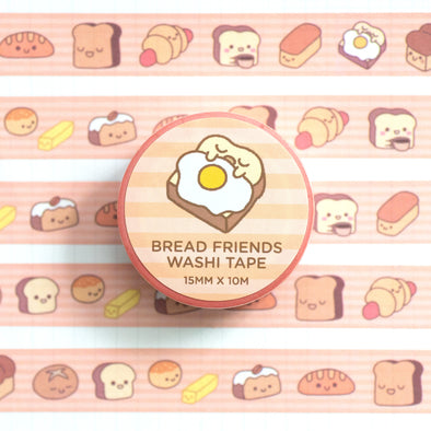 Bread Friends Washi Tape