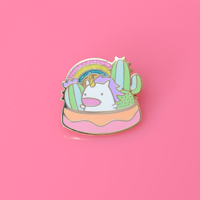 Work it, Cactus Unicorn Enamel Pin