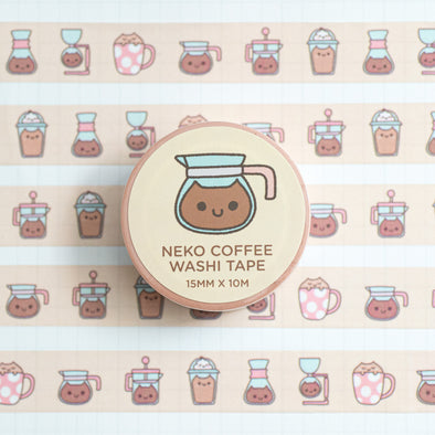 Neko Coffee Washi Tape