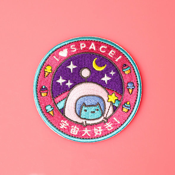 Commander Kitty Space Program Iron on patch