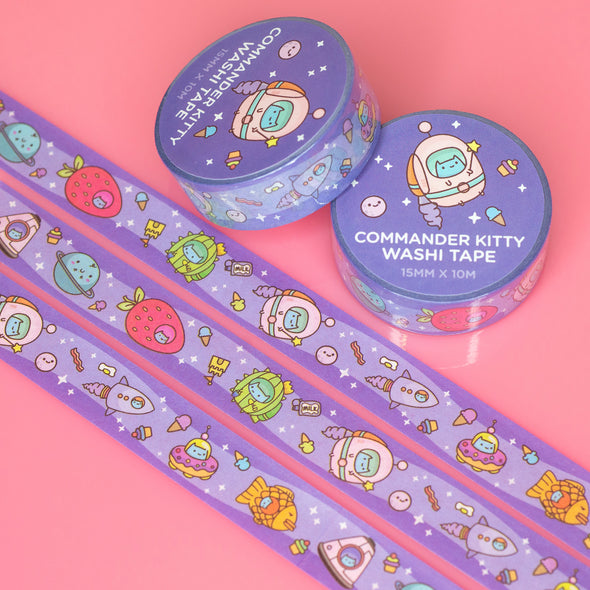 Commander Kitty Washi Tape