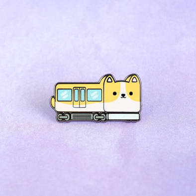 Corgi Express Train Enamel Pin