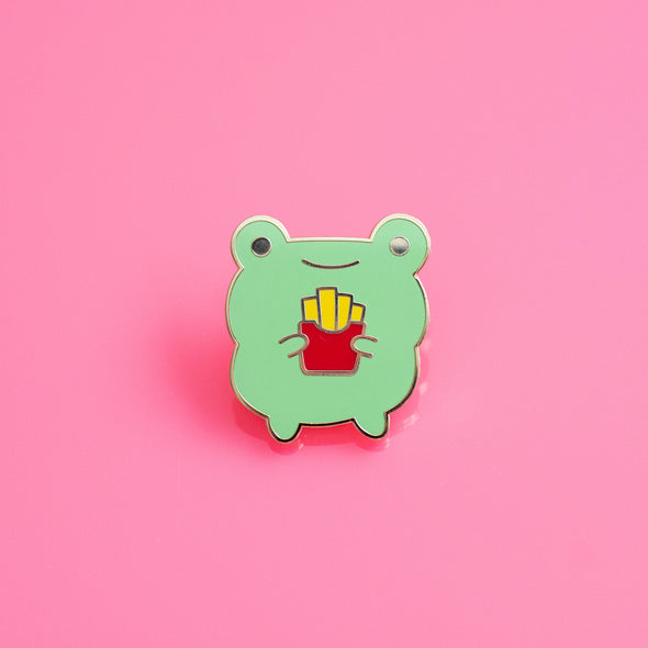 Fries Frog Enamel Pin