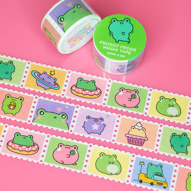 Froggy Frogs Stamp Washi Tape