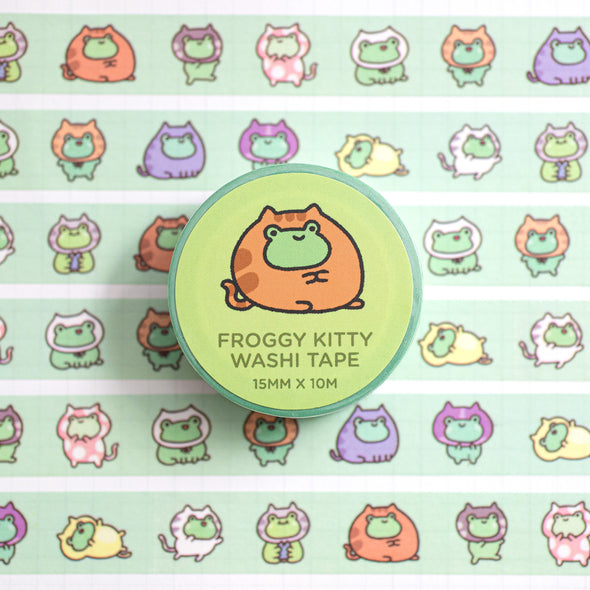 Froggy Kitty Washi Tape