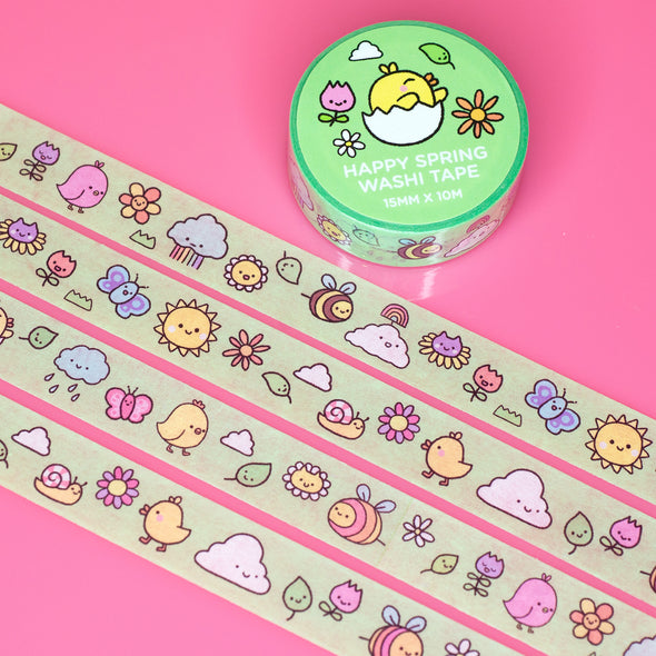 Happy Spring Washi Tape