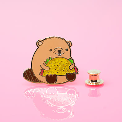 Taco Time Beaver Enamel Pin