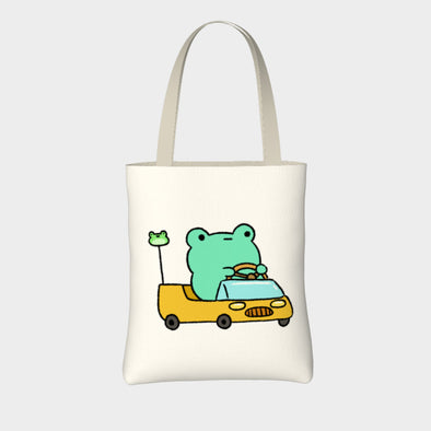 Car Frog Tote Bag