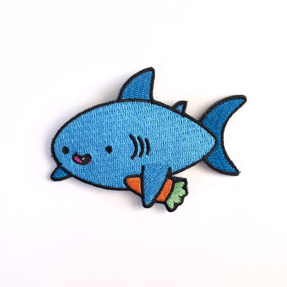 Carrot Shark Iron on patch