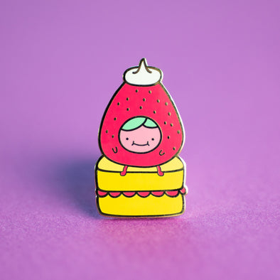 Strawberry Cake Enamel Pin