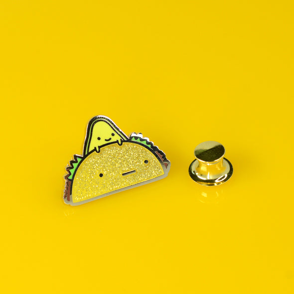 Taco Time Avocado Enamel Pin