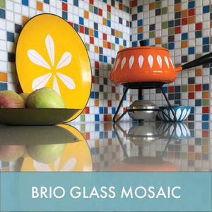 Brio Glass Mosaic Tile - Midcentury Modern Tile for Wall, Backsplash, Floor and Pool