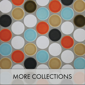 Modwalls Glass, Ceramic, Cork and Porcelain Modern and Midcentury Tile Collections