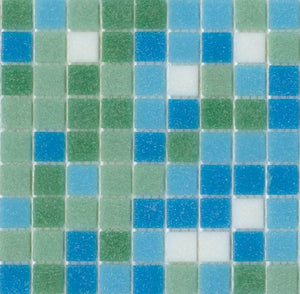 Modwalls Brio Glass Mosaic Tile | South Beach Blend
