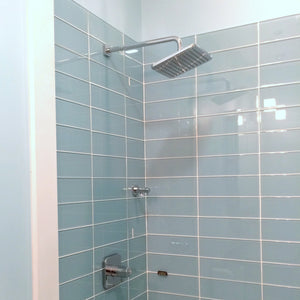 Modwalls Lush Glass Subway Tile | Vapor 4x12
