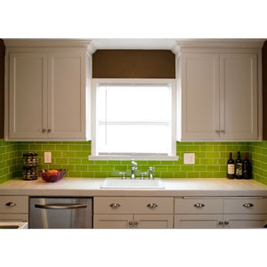 Modwalls Lush Custom® Glass Subway Tile | Lemongrass