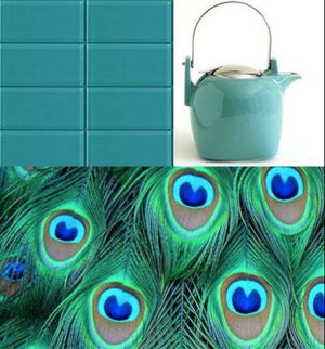 Modwalls Lush Glass Subway Tile | Peacock 3x6 | Modern tile for backsplashes, kitchens, bathrooms, showers