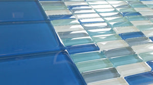 Modwalls Lush Glass Subway Tile | True Blue 3x6
