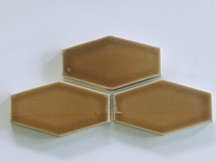 "Sample of Clayhaus Ceramic Mosaic Tile 3 5/16"" Mini Stretch Hex"